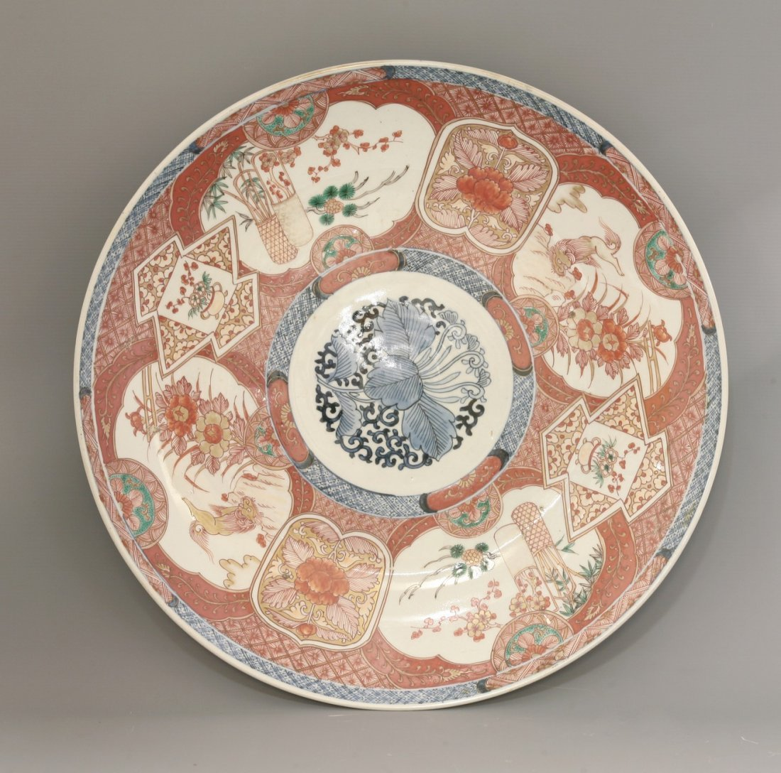 A large Imari Dish, late 19th century, decorated with