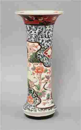 An Arita ko-Imari Trumpet Vase, late 17th century,