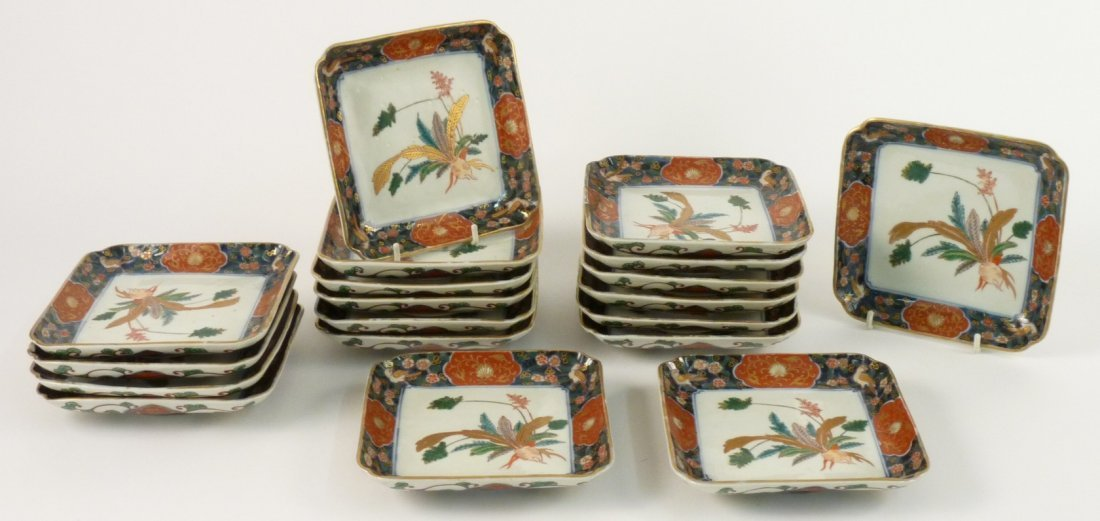A set of Imari Dishes, late 18th century, each of