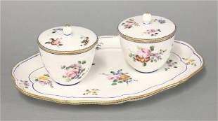 A Sèvres Confiture, 18th and 19th century, the lobed