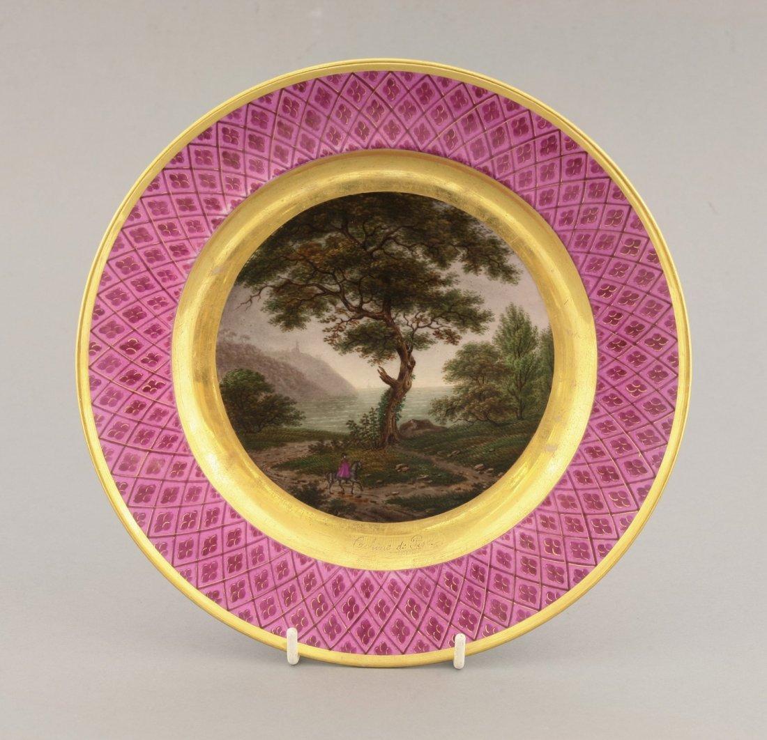 A Paris porcelain Plate, c.1830, probably outside