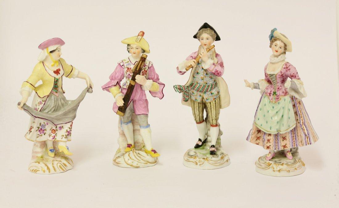 Four Vienna porcelain Figures, third quarter of the