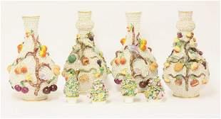 Two pairs of Meissen-style Schneeballen Vases and