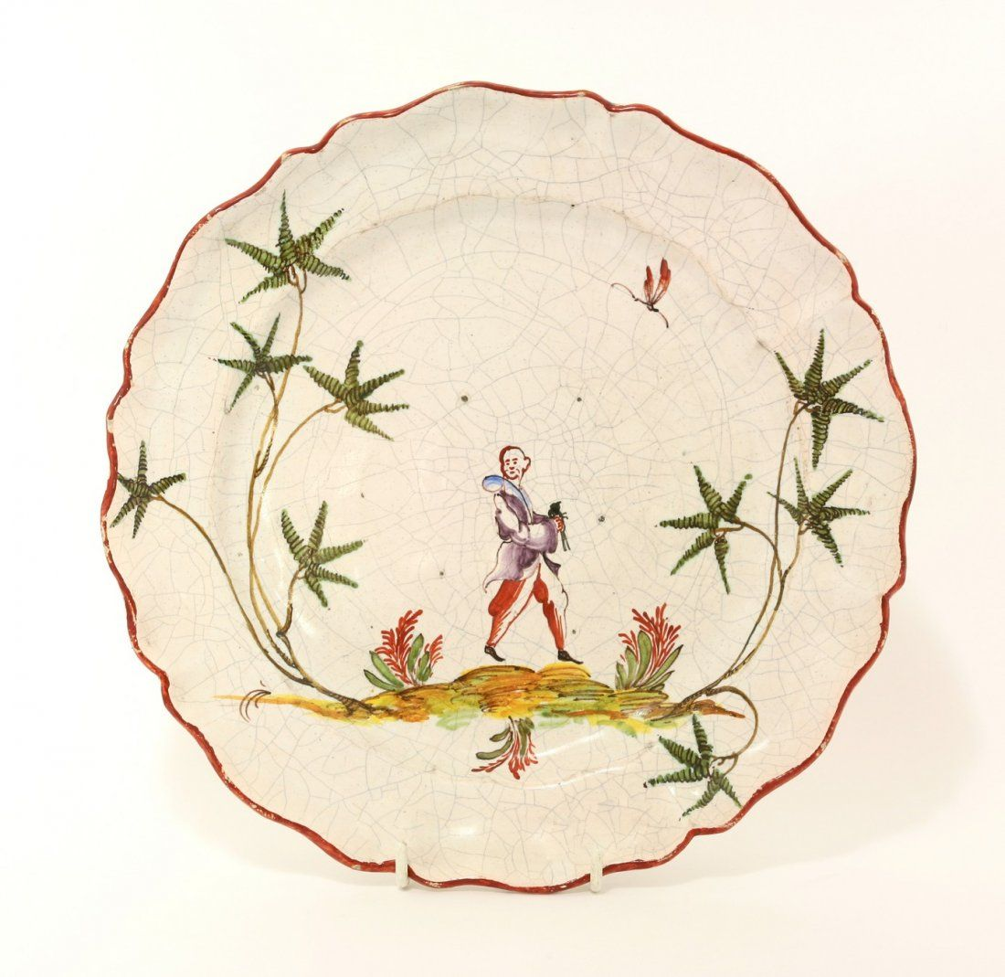 A Milanese Clerici faience Plate, late 19th century, of