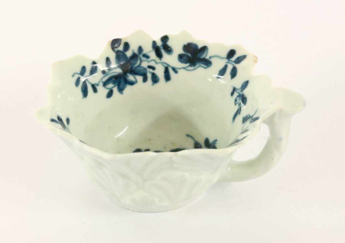 A Worcester blue and white Butter Boat, c.1760,