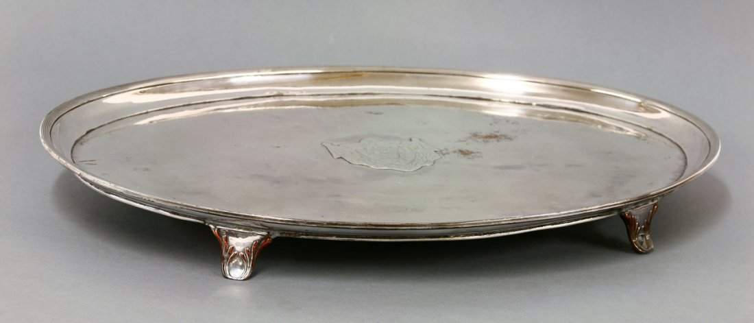 A George III old sheffield plate salver, c.1790, of
