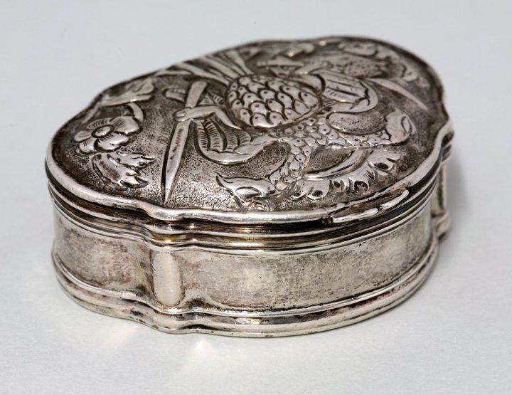An Ottoman silver snuff box, Turkish, possibly 18th