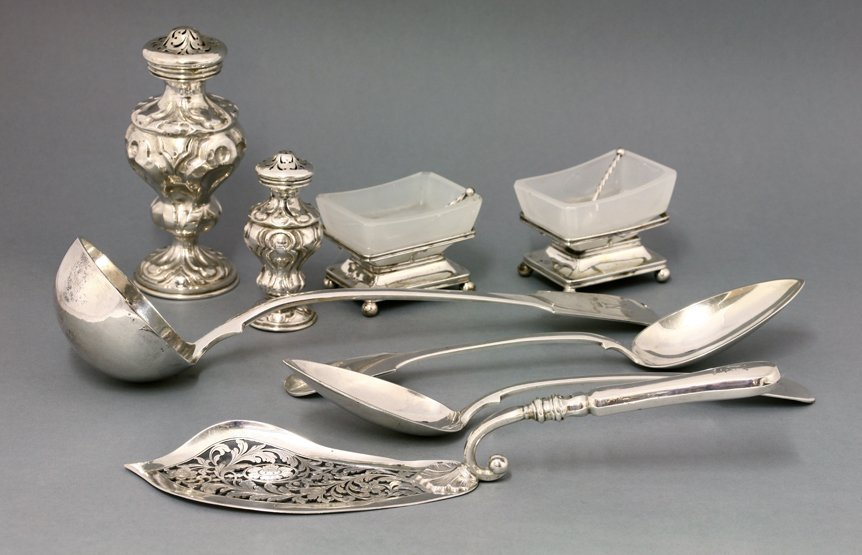 An Austro-Hungarian silver travelling canteen, mid 19th