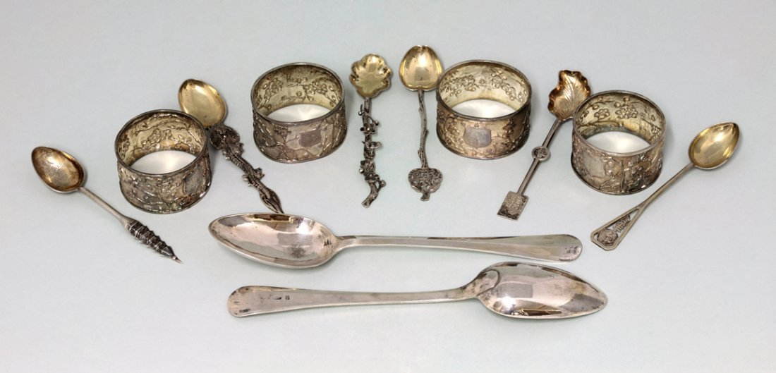 A suite of Chinese silver tableware, by Luen Wo,