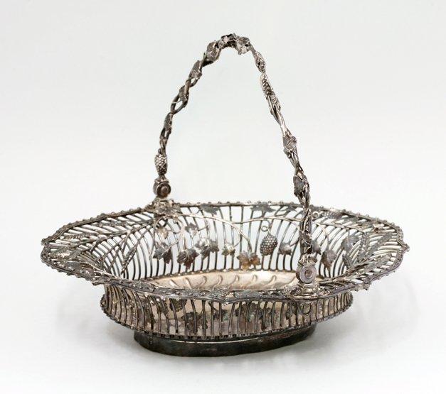 A George III silver cake basket, by Arthur Annesley,