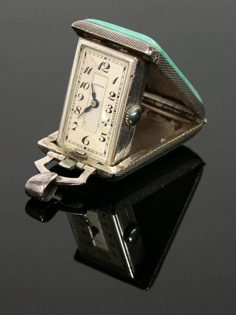 A ladies' Art Deco marcasite set pendant watch,  by