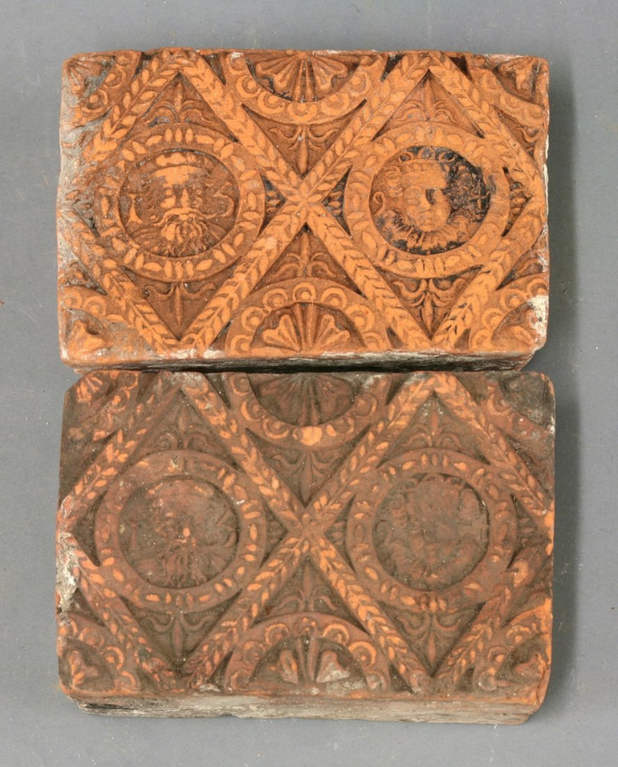 Another pair of terracotta Tiles,     1594, similar, 9