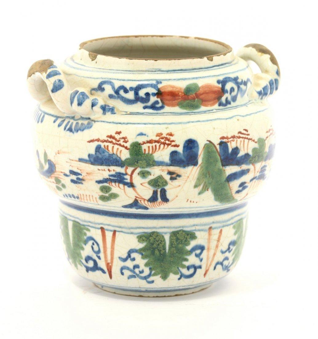 A rare Bristol delftware Jar, c.1680, decorated in