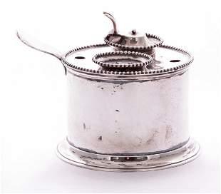 A Dutch silver inkstand, by Willem Arnoldus Wennink,