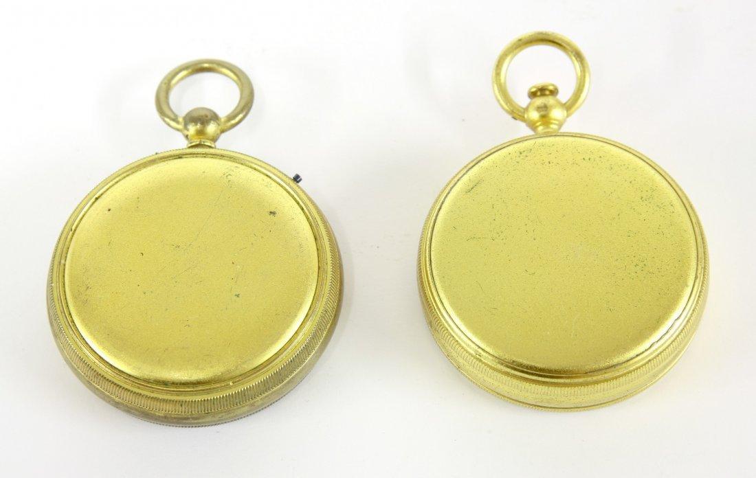 A Negretti & Zambra pocket compass, barometer and - 3