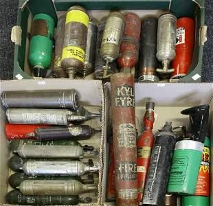 Twenty-eight car and vehicle fire extinguishers,