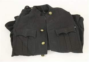 Fireman's uniform, mid 20th century, two pocket uniform