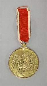 A 9ct gold Fire Brigade medal, presented to