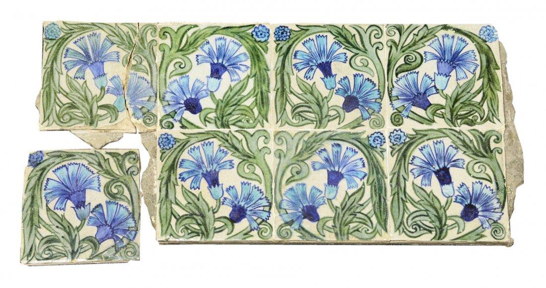 The following three lots of William de Morgan tiles