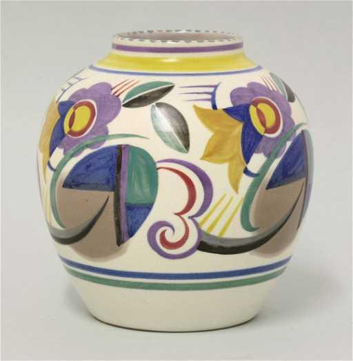 A Poole Pottery Vase Tj Pattern By Marjorie Batt