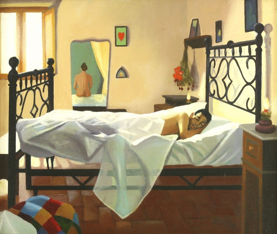 *Lesley Banks (Scottish b.1962), 'THE BIGAZZI BED'