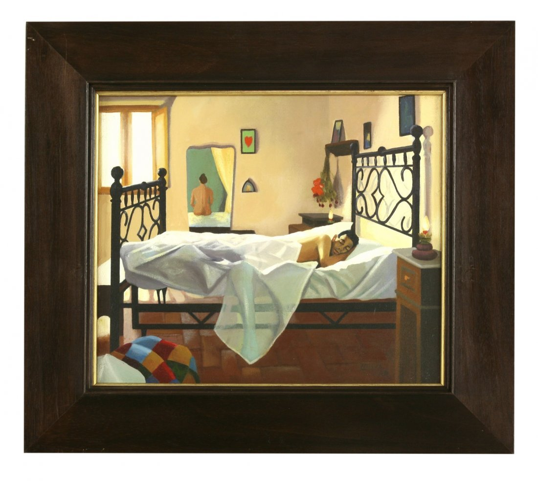 *Lesley Banks (Scottish b.1962), 'THE BIGAZZI BED' - 2