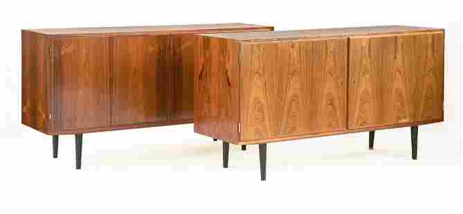 A pair of Danish rosewood cabinets, by Poul Hundevad,