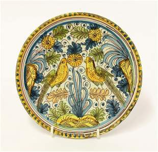 A Savona Tazza, c.1680, of small size, painted in