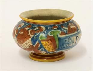 A rare Castel Durante small Dry Drug Jar, late 16th