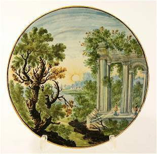 A Castelli Plate, c.1740, attributed to the Grue