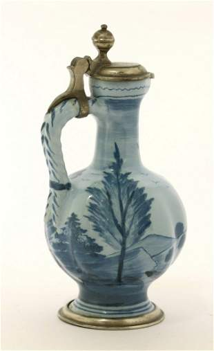 A small attractive faience Jug, c.1730, possibly