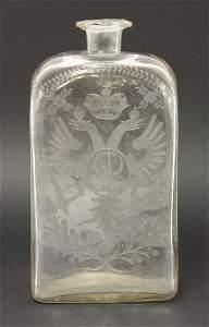 An interesting Spirit Bottle, late 17th century,