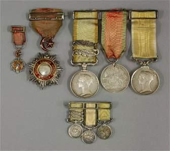 A group of four medals awarded to Captain Marcus