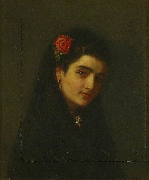 Attributed To John Bagnold Burgess Ra 1830 1897