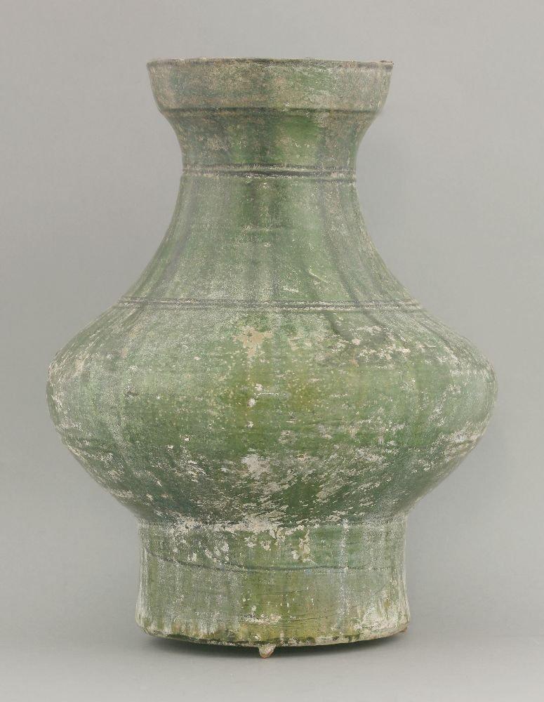 A green lead-glazed Vase,  AFCHan dynasty (206 BCE -
