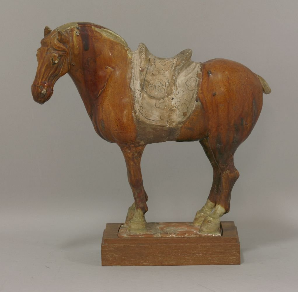 A pottery Horse, Tang dynasty (618-906), standing