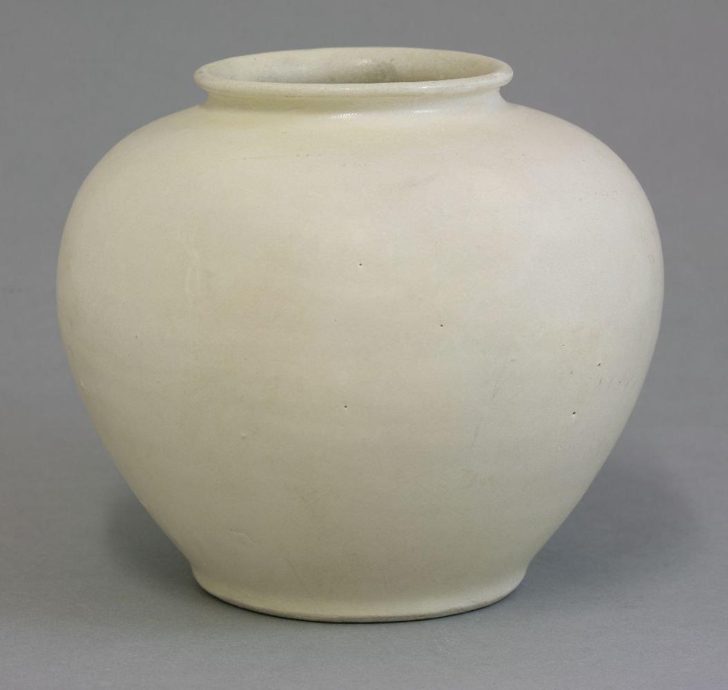 A good cream-glazed Jar, Tang dynasty (618-906), with
