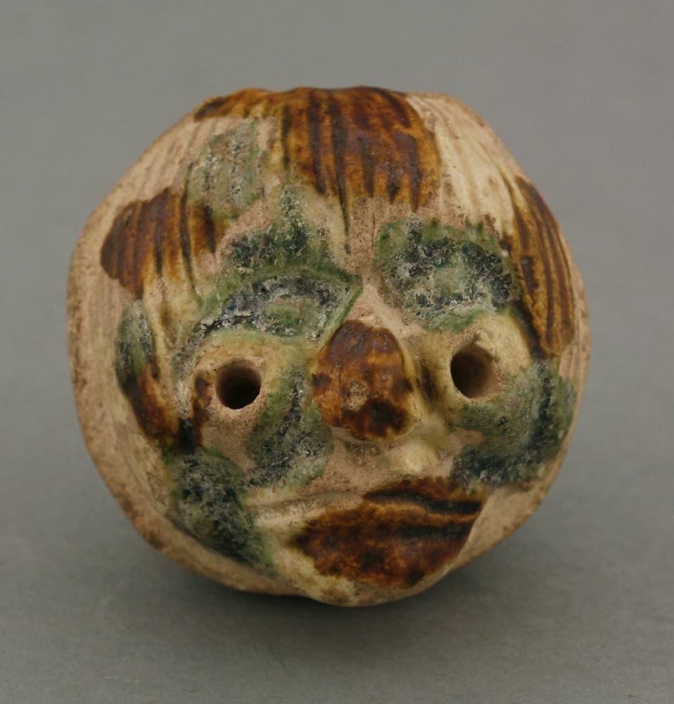 A rare earthenware Head,  AFCprobably Liao dynasty