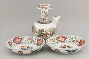 A pair of Arita Dishes,c.1700, each painted in