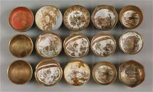 A good collection of Kutani porcelain Sauce Bowls,