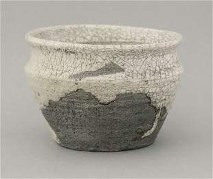 A Shino ware Bowl, probably 18th century, the iron-rich