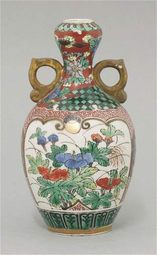 A small Yoshidaya Kutani Vase, mid 19th century,