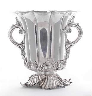A William IV old sheffield plate two-handled wine