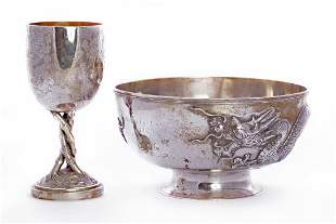 A Chinese export silver bowl, by CJ Co., Shanghai