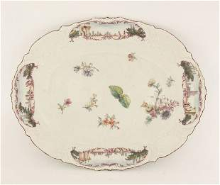 A Chelsea 'Warren Hastings' type oval Plate, c.1755,