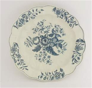 A Worcester blue and white Junket Dish, c.1770-1785,