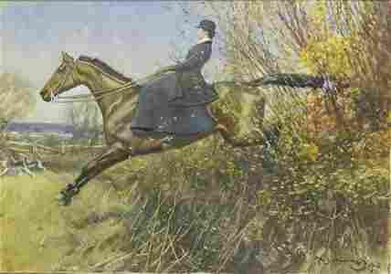 *Sir Alfred James Munnings PRA RWS (1878-1959) A LADY