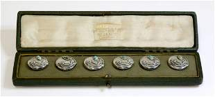 A cased set of sterling silver Arts and Crafts Cymric