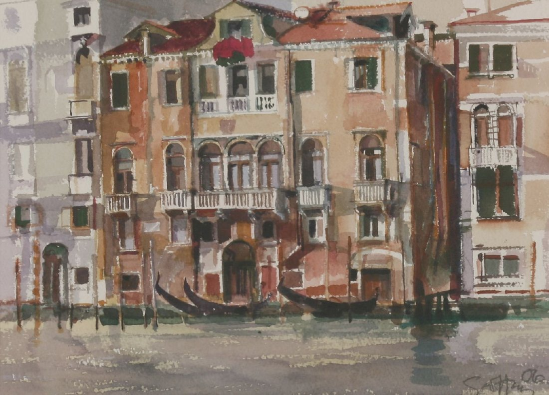 *Geoffrey Humphries (b.1945) A VENETIAN CANAL Signed