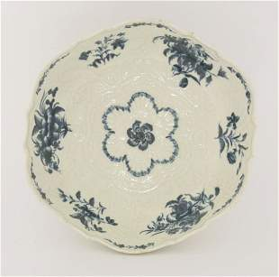 A good Worcester blue and white Junket Dish,